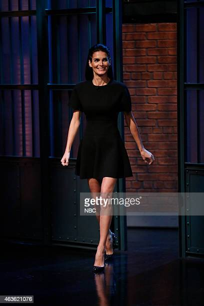 Actress Angie Harmon arrives on February 16 2015