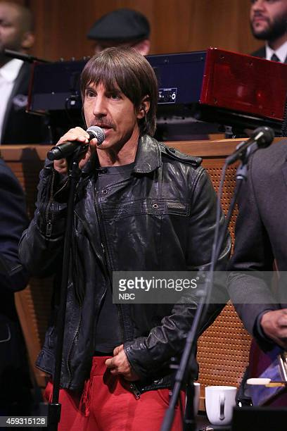 Musician Anthony Kiedis performs with The Roots on November 20 2014