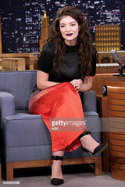 Singer Lorde on November 25 2014