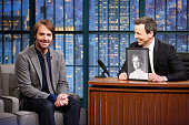 Actor Will Forte during an interview with host Seth Meyers on February 26 2015