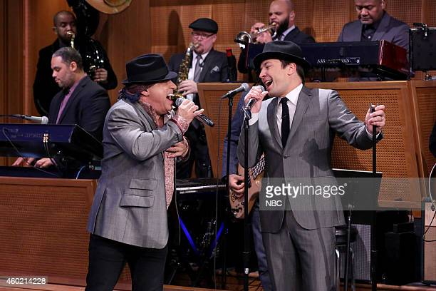 Musician Steven Van Zandt sings with host Jimmy Fallon on December 9 2014