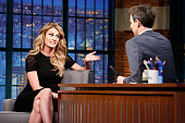 Erin Andrews during an interview with host Seth Meyers on March 18 2015