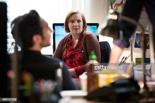 Lena Dunham during a skit on March 18 2015