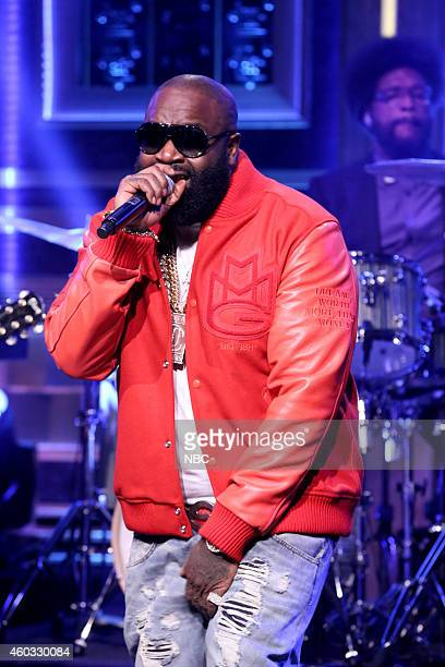Musical guest Rick Ross performs with The Roots on December 11 2014