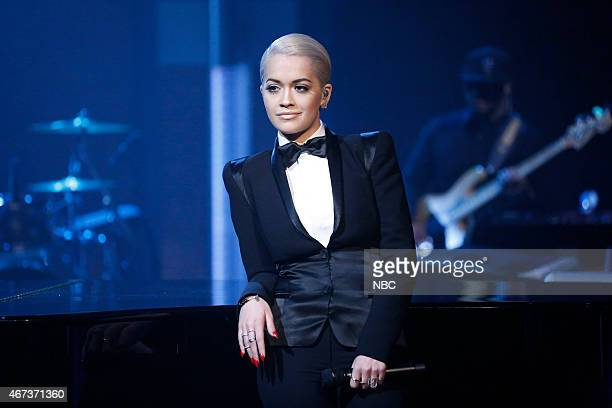 Musical guest Rita Ora performs on March 23 2015