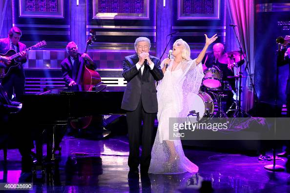 Musical guests Tony Bennett and Lady Gaga perform on December 17 2014