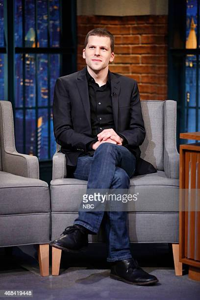Actor Jesse Eisenberg during an interview on April 2 2015