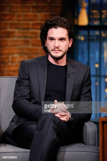 Actor Kit Harrington during an interview on April 2 2015