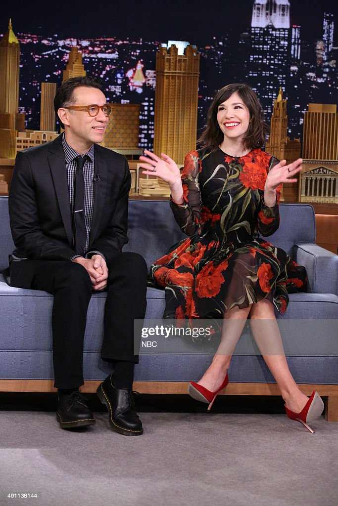 Actor Fred Armisen and actress Carrie Brownstein on January 7 2015