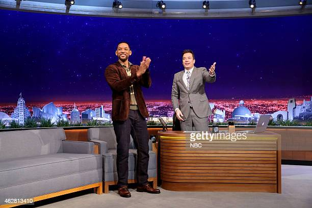 Actor Will Smith during an interview with host Jimmy Fallon on February 5 2015