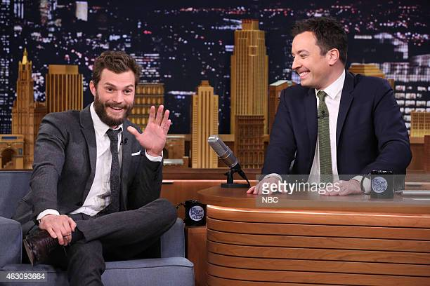 Actor Jamie Dornan during an interview with host Jimmy Fallon on February 9 2015