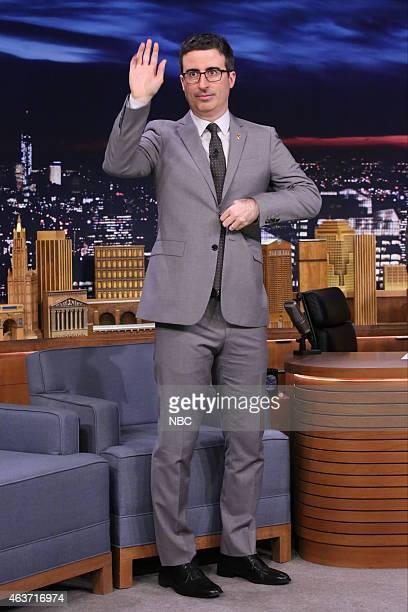 Comedian John Oliver arrives on February 17 2015