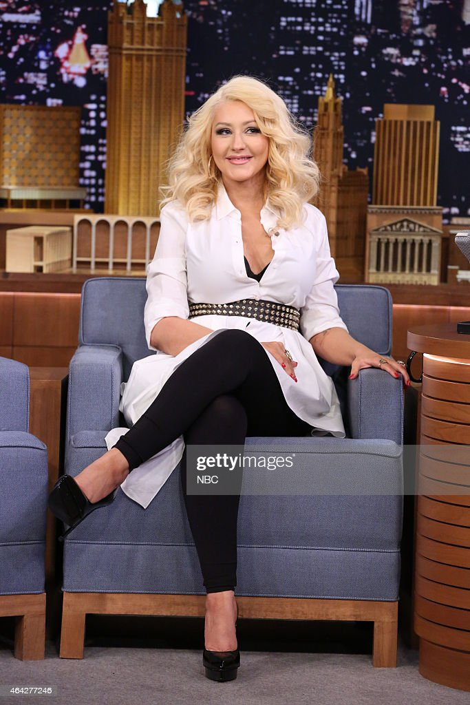Singer <a gi-track='captionPersonalityLinkClicked' href=/galleries/search?phrase=Christina+Aguilera&family=editorial&specificpeople=171272 ng-click='$event.stopPropagation()'>Christina Aguilera</a> on February 23, 2015 --