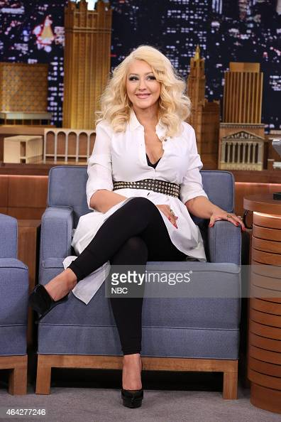 Singer Christina Aguilera on February 23 2015