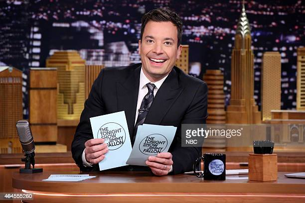 Host Jimmy Fallon on February 26 2015