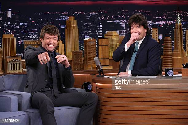 Actor Hugh Jackman during an interview with host Jimmy Fallon on March 5 2015