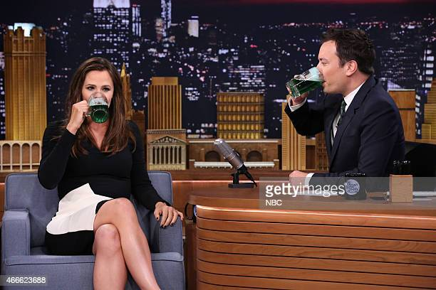 Actress Jennifer Garner during an interview with host Jimmy Fallon on March 17 2015