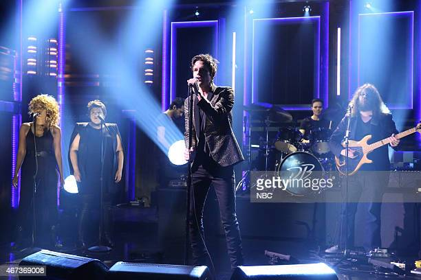 Musical guest Brandon Flowers performs on March 23 2015