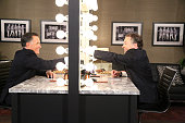 Politician Mitt Romney during a skit with host Jimmy Fallon on March 25 2015