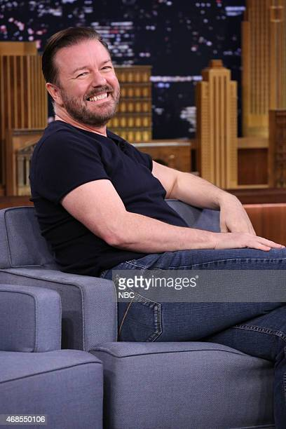 Actor Ricky Gervais on April 3 2015