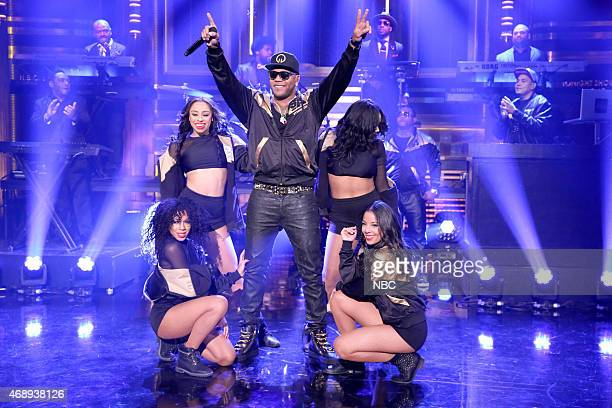 Musical guest Flo Rida performs with The Roots on April 8 2015
