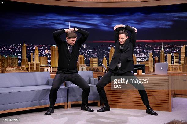 Actor Nikolaj CosterWaldau during an interview with host Jimmy Fallon on April 9 2015