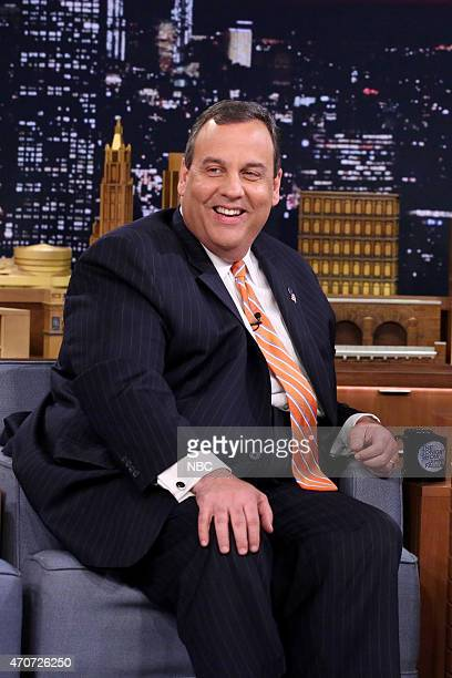 New Jersey Governor Chris Christie on April 22 2015