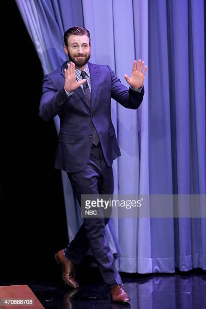 Actor Chris Evans arrives on April 23 2015