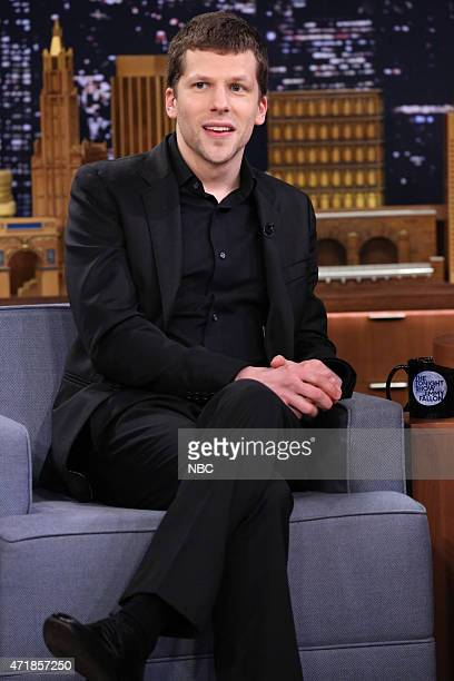 Actor Jesse Eisenberg during an interview on May 1 2015