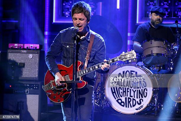 Noel Gallagher of musical guest Noel Gallagher's High Flying Birds performs on May 6 2015