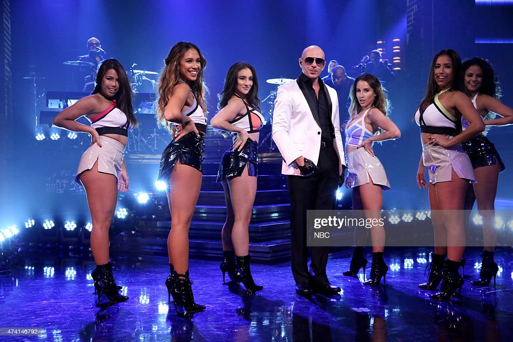 Musical guest <a gi-track='captionPersonalityLinkClicked' href=/galleries/search?phrase=Pitbull+-+Rapper&family=editorial&specificpeople=206389 ng-click='$event.stopPropagation()'>Pitbull</a> performs on May 20, 2015 --