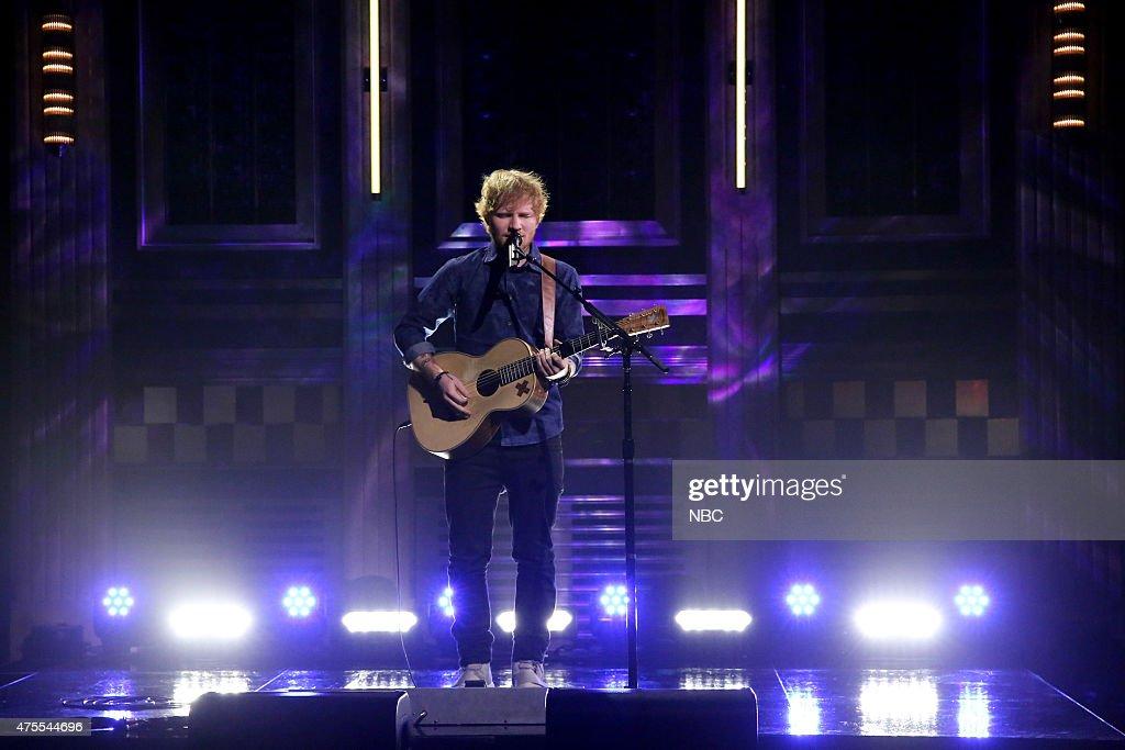 Musical guest Ed Sheeran performs on June 1, 2015 --
