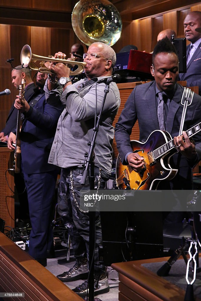 Musician Terence Blanchard performs with The Roots on June 1, 2015 --