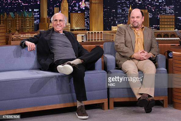 Actors Larry David and Jason Alexander on June 8 2015