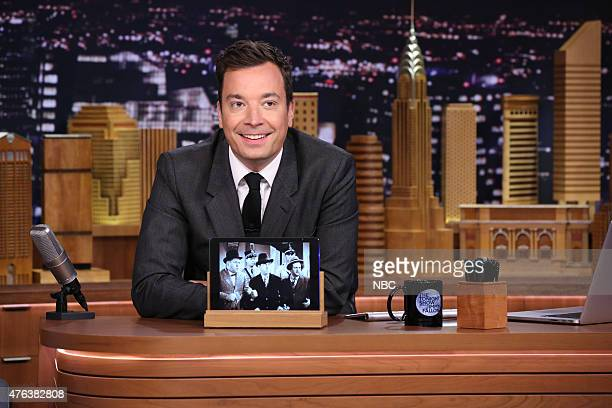 Host Jimmy Fallon during the 'Screen Grabs' bit on June 8 2015