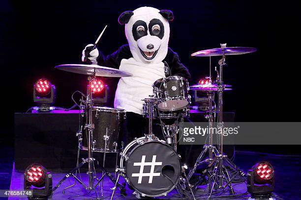 Hashtag the Panda plays the drums on June 10 2015
