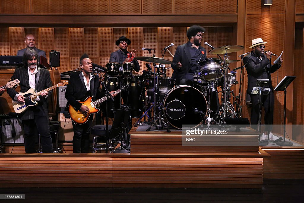 "NBC's ""Tonight Show Starring Jimmy Fallon"" with guests Aziz Ansari, Taylor Schilling, Adam Lambert"