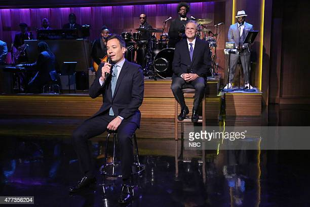 Host Jimmy Fallon and Former Governor Jeb Bush 'Slow Jam the News' on June 16 2015