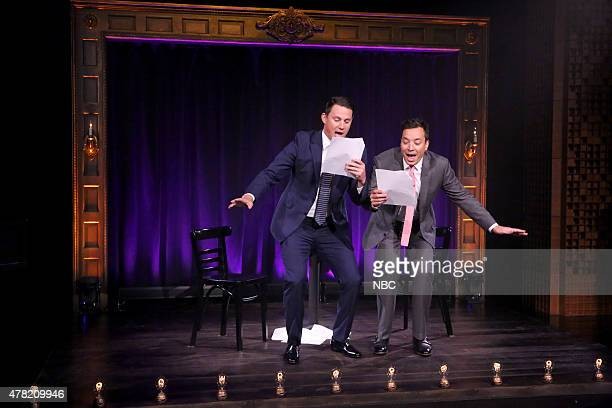 Actor Channing Tatum and host Jimmy Fallon perform 'Kid Theater' on June 23 2015