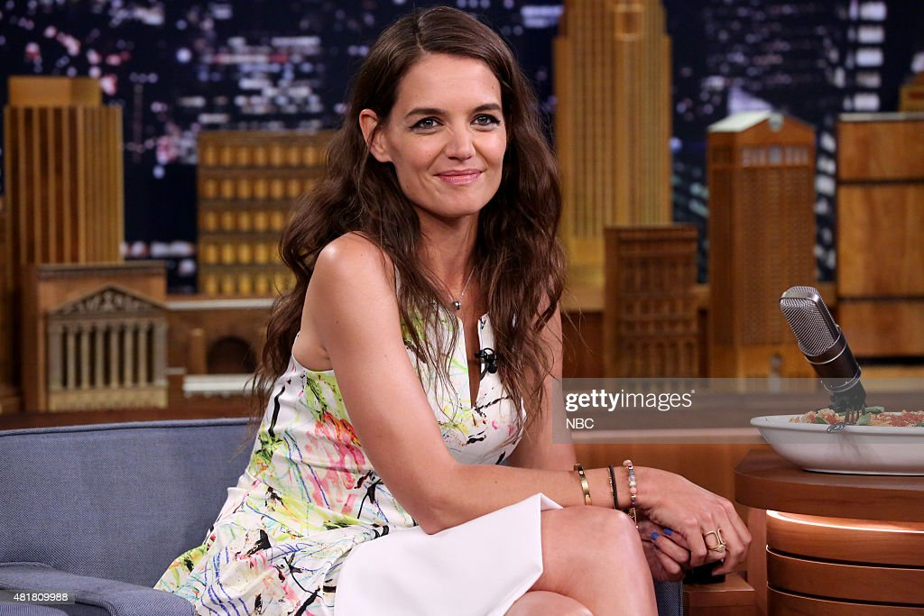 Actress <a gi-track='captionPersonalityLinkClicked' href=/galleries/search?phrase=Katie+Holmes&family=editorial&specificpeople=201598 ng-click='$event.stopPropagation()'>Katie Holmes</a> on July 23, 2015 --