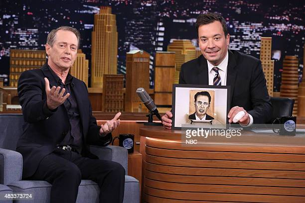 Actor Steve Buscemi during an interview with host Jimmy Fallon on August 7 2015