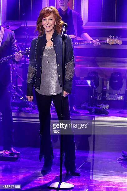Musical guest Reba McEntire performs on August 12 2015