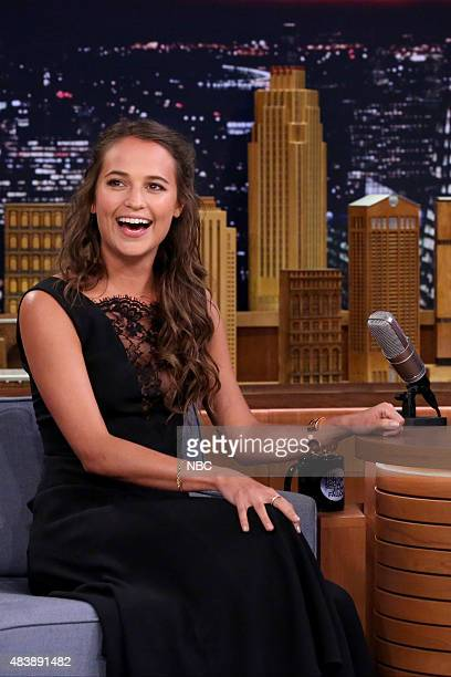 Actress Alicia Vikander on August 13 2015