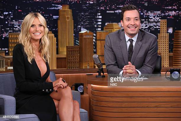Model Heidi Klum during an interview with host Jimmy Fallon on August 19 2015