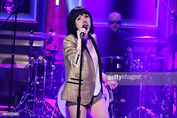 Musical guest Carly Rae Jepsen performs on August 19 2015