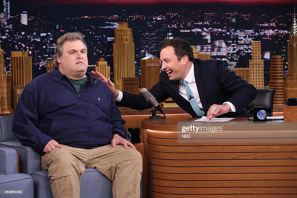 Actor Artie Lange during an interview with host Jimmy Fallon on August 20 2015