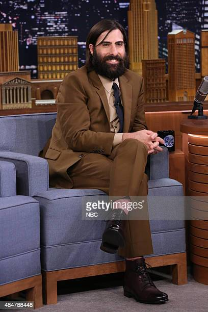 Actor Jason Schwartzman during an interview with host Jimmy Fallon on August 21 2015
