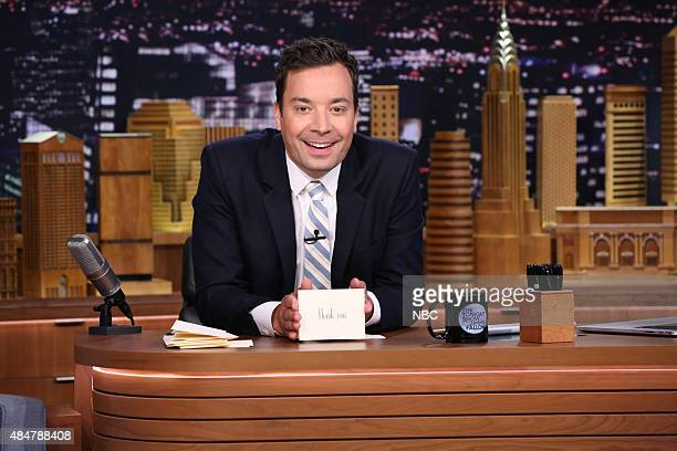 Host Jimmy Fallon writes Thank You Notes on August 21 2015