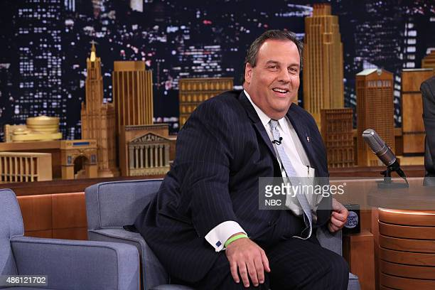 Governor Chris Christie during an interview with host Jimmy Fallon on August 31 2015