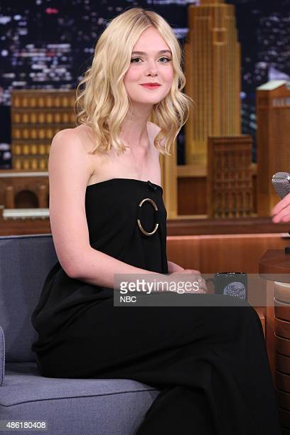 Actress Elle Fanning during an interview on September 1 2015